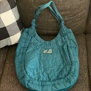 Marc by Mac Jacobs nylon large turquoise tote bag